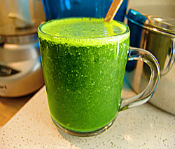 Mug of Fresh, Leafy Green Juice With Fruit
