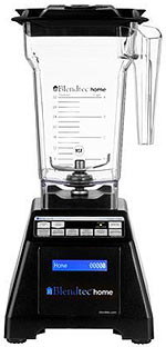 The Blendtec Blender with spiffy digital controls and blue display - attractive and powerful.