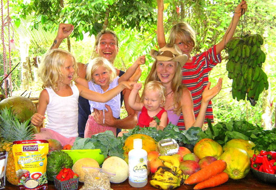 This is not me... this is the Raw Food Family at TheRawFoodFamily.com. They live on mostly fresh, raw, organic, natural fruits, vegetables and other healthy raw foods. The children are seldom if ever ill, their health, energy, vigor, superlative. Had they been raised on fast food, processed foods, would it be the same for them? I believe not. Visit them, join them at TheRawFoodFamily.com.
